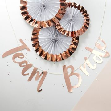 Rose Gold foiled Team Bride Backdrop